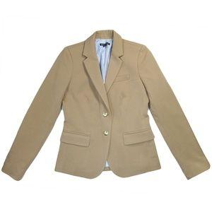 J Crew 0 Schoolboy Blazer Polyester Beige Jacket